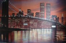 Роспись интерьера огни города