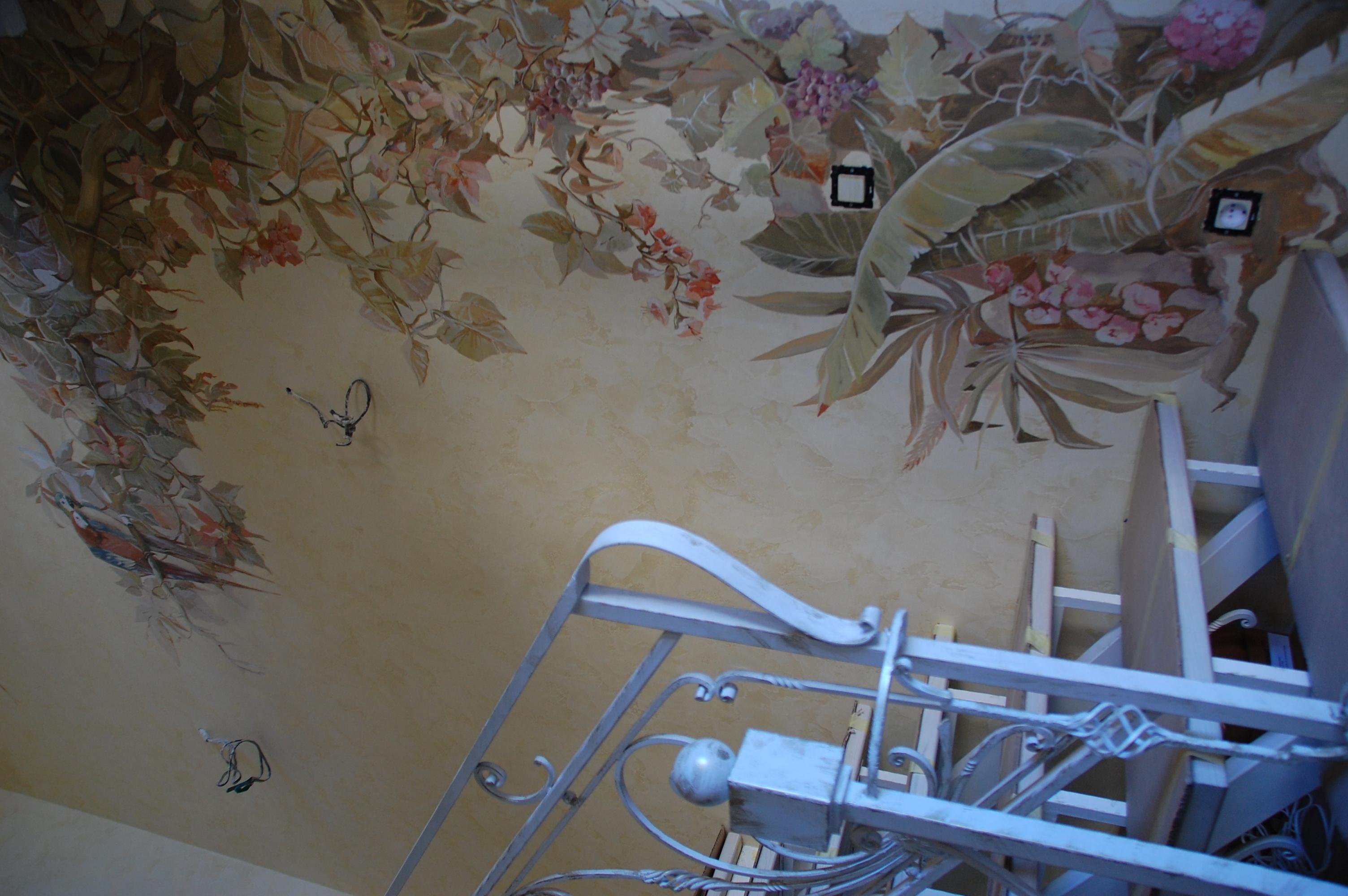 роспись под дерево альфрейные работы