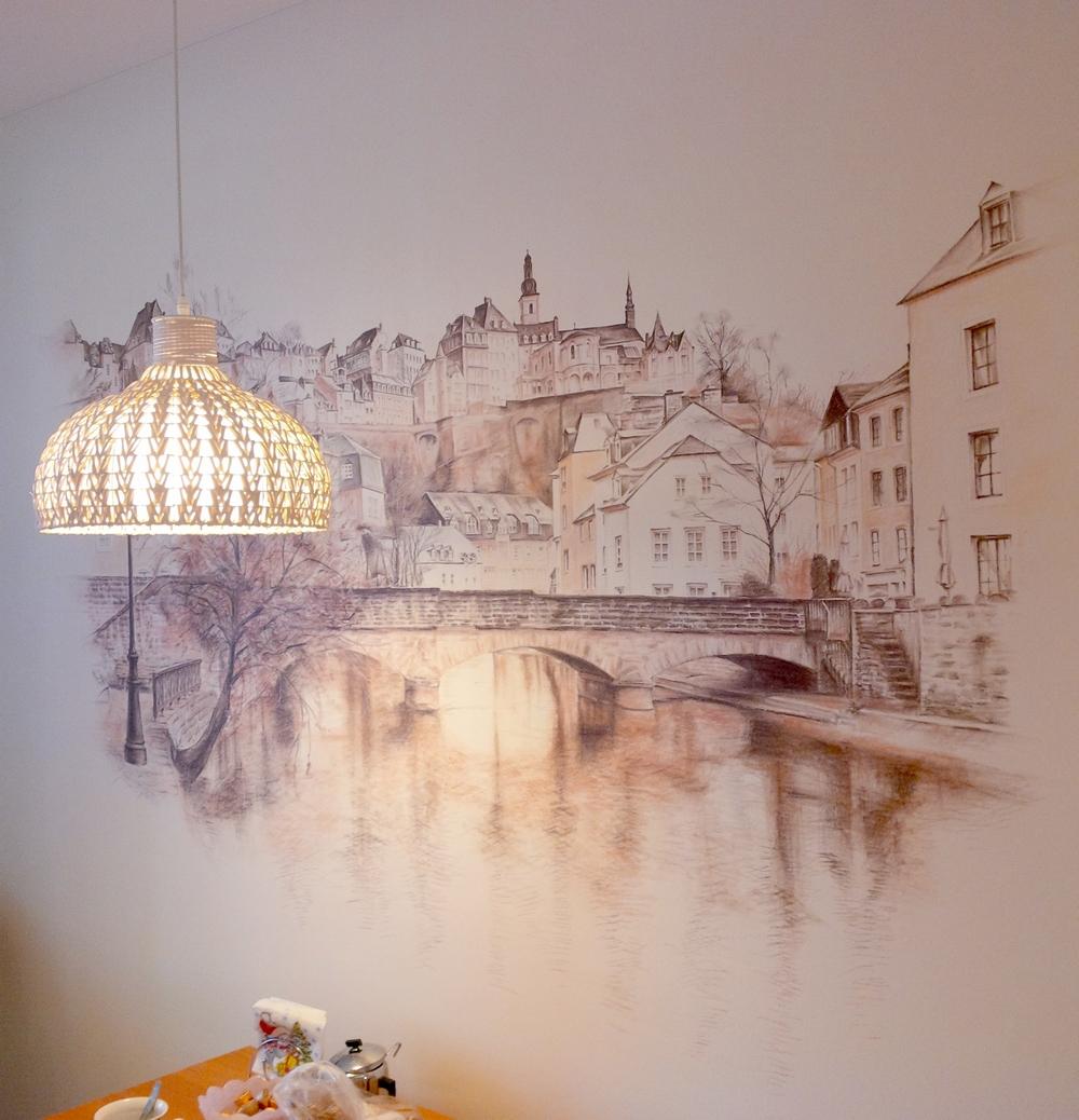 Рисунки на стенах своими руками в парижском стиле
